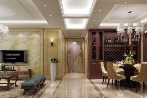 叙丰家园130平米欧式风格三室二厅装修案例
