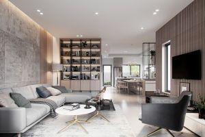 中梁芯都会130平米三居室现代极简约风格装修案例