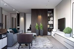 富力桃园90平米两居室现代简约风格装修案例