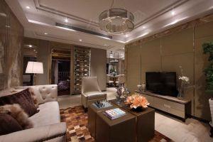太华景苑118平米现代简约风格三居装修案例