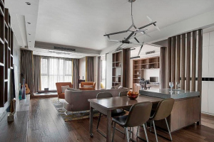 名豪佳园120平米现代风格三室两厅装修案例