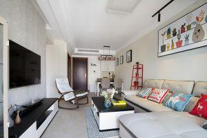 滨溪金悦府120平方现代简约风格三居室装修案例