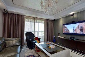 御景豪庭128平方三居室现代简约风格装修案例