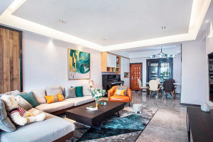 龙玺太湖湾120平三室两厅现代简约风格装修案例