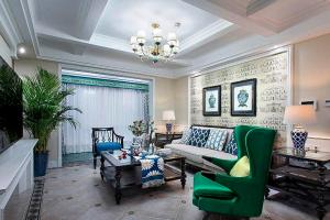 名豪佳园120平米美式风格三居室装修案例