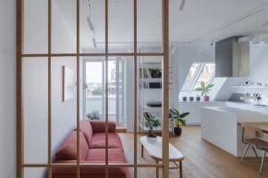 天安城市花园100平米北欧风格三居室装修案例