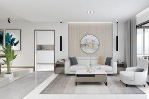 时代城120平方三室现代装修案例