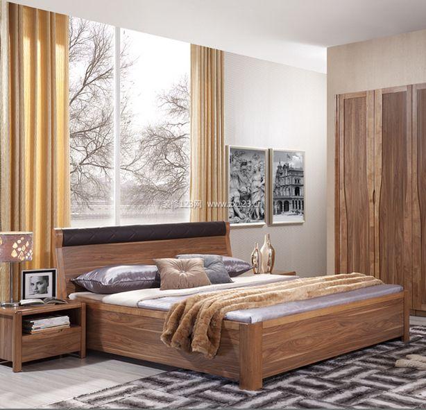 床,地中海风实木双人床图片