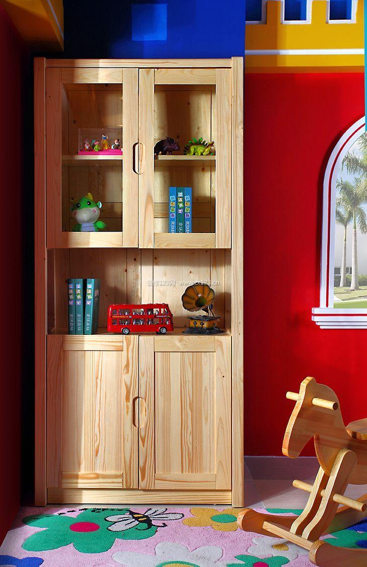 童话森林现代儿童房实木书柜