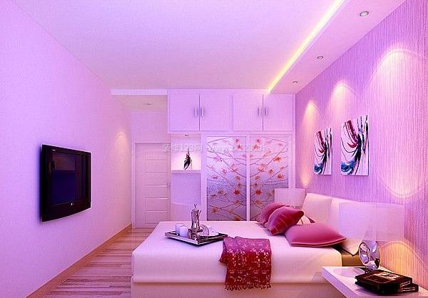 粉紫色卧室装修效果图