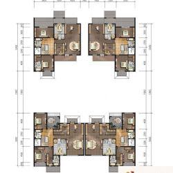 金隅乐府户型图320/340平米合院别墅户型二层平面 5室3厅5卫2厨图片