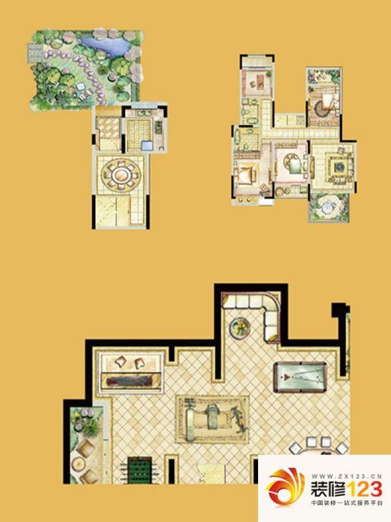 南通世茂公元世茂公元户型图b2户型 4室2厅2卫1厨图片
