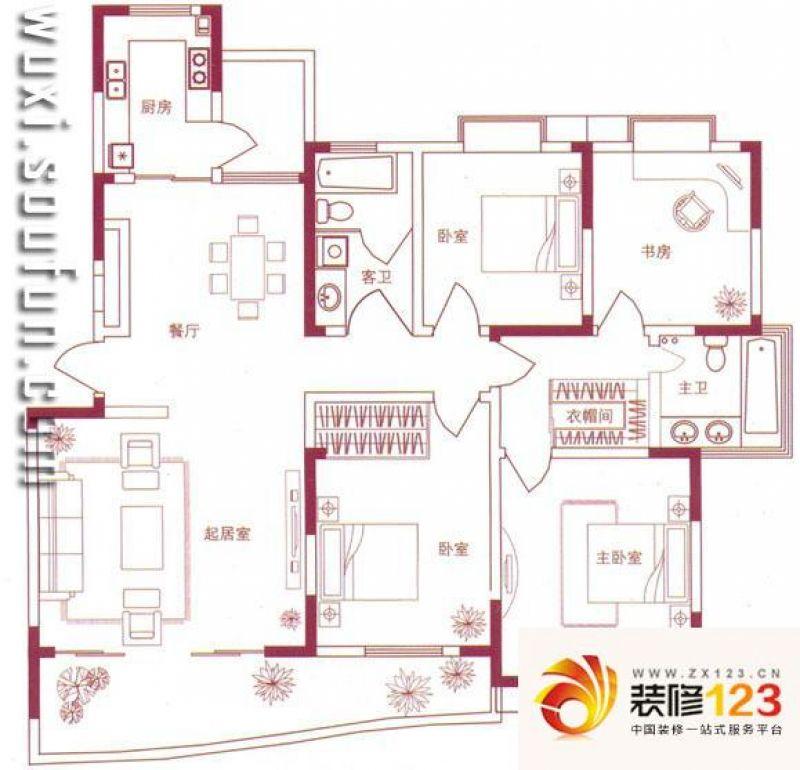 无锡红山半岛红山半岛户型图3室 户型图 3室1 .图片