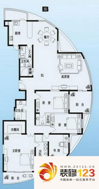 青岛麦岛家园麦岛家园3室 户型图图片大全-我的小区
