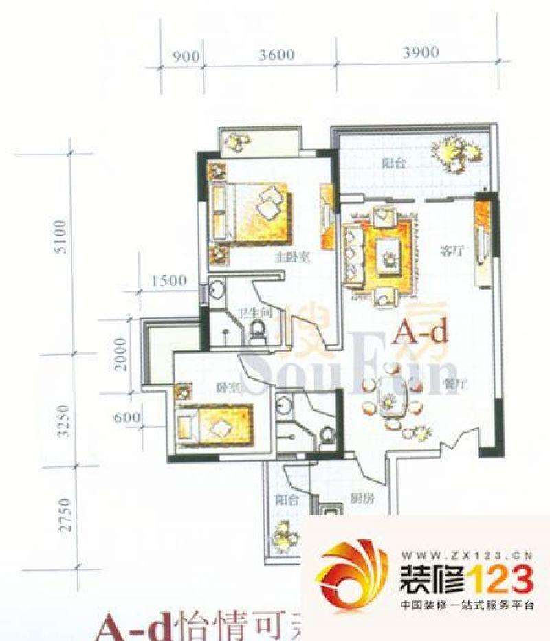 汇景二期(汇景银座) 2室 户型图 .