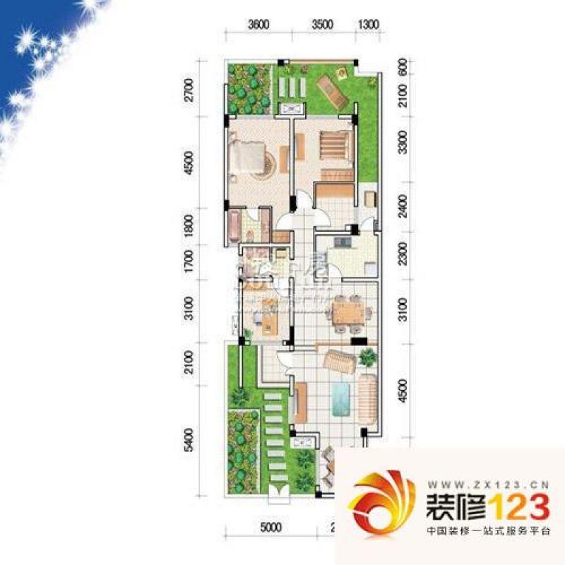 融汇半岛户型图6号楼ha-1户型(二 .