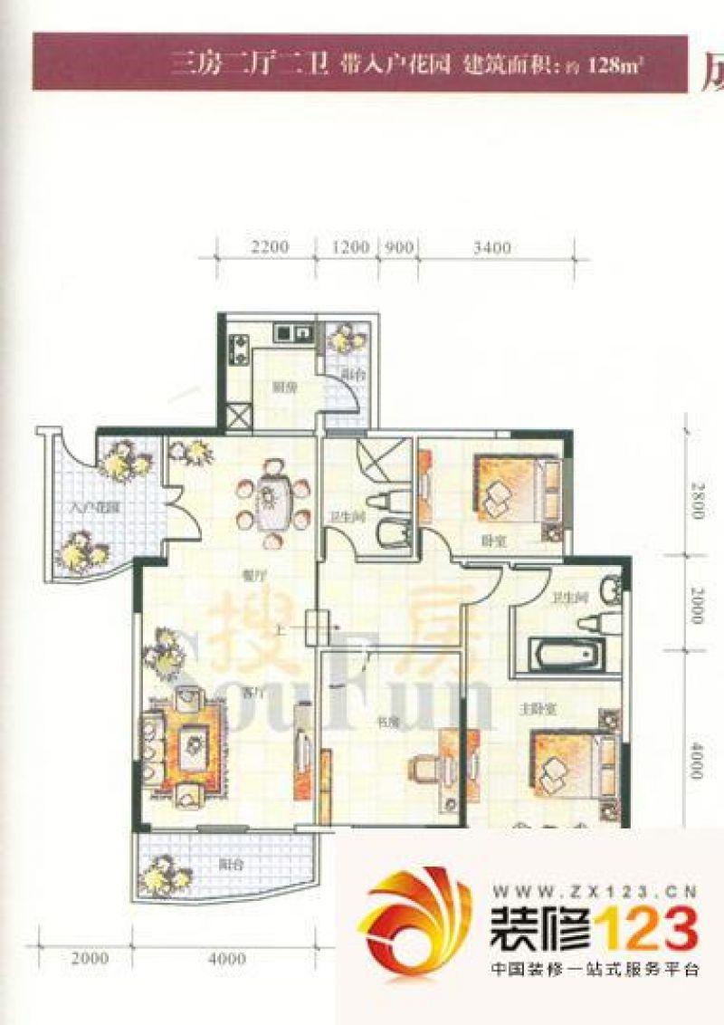 汇景二期(汇景银座) 3室 户型图 .
