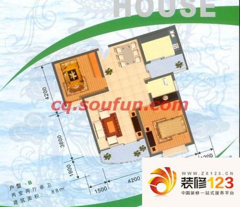 重庆重啤龙泉苑重啤龙泉苑 户型图b图片大全-我的小区