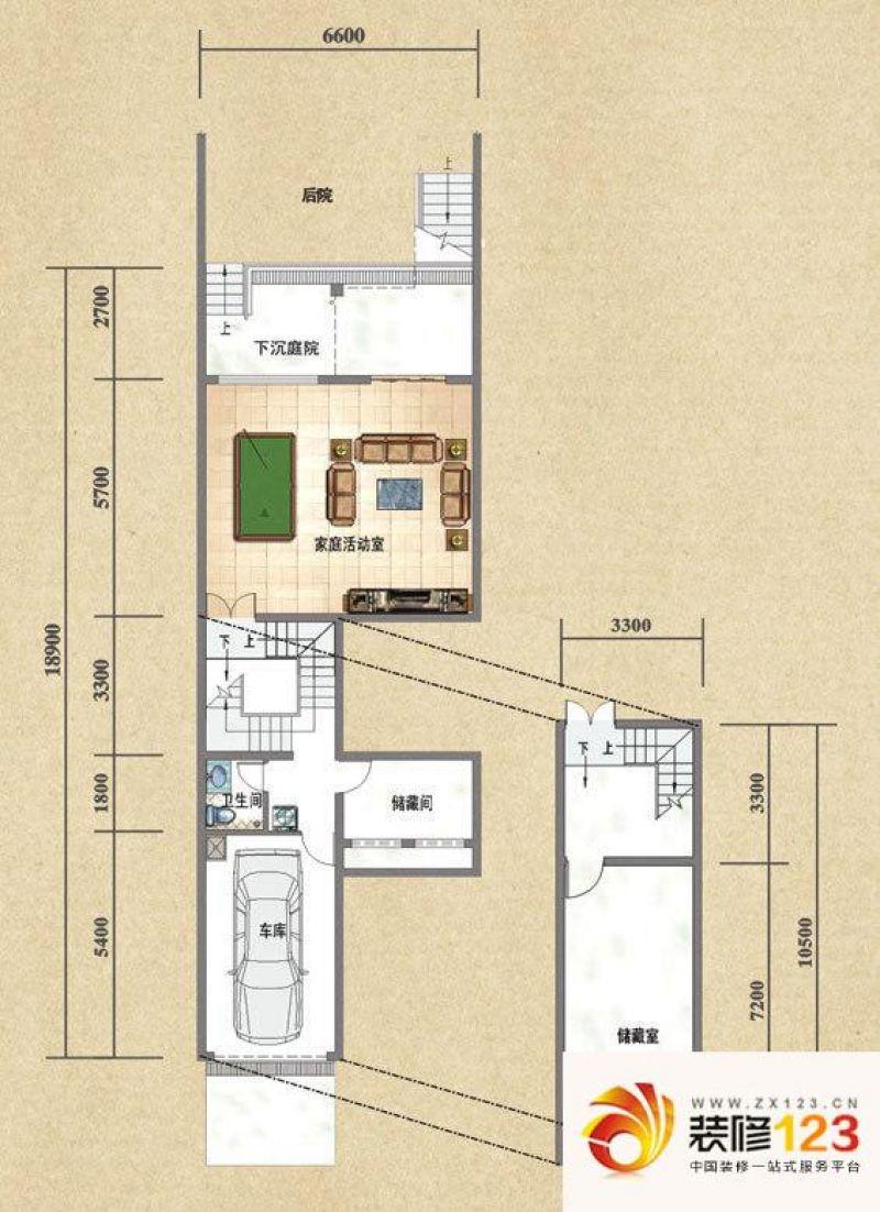 成都合院户型图乙户型半地下室 5 .图片