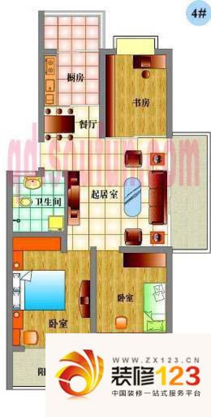 青岛百通兴隆家园百通兴隆家园户型图3室1厅1卫1厨 .