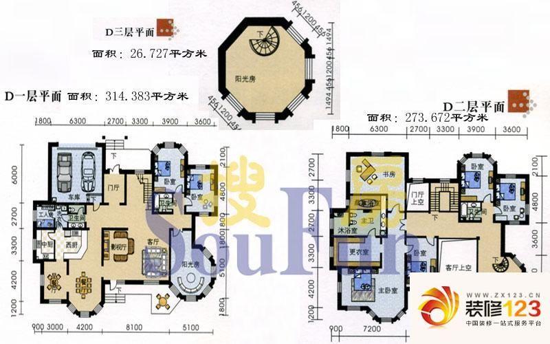 沈阳玫瑰园别墅玫瑰园别墅户型图5室3厅3卫 图片大全 我的小区 沈阳