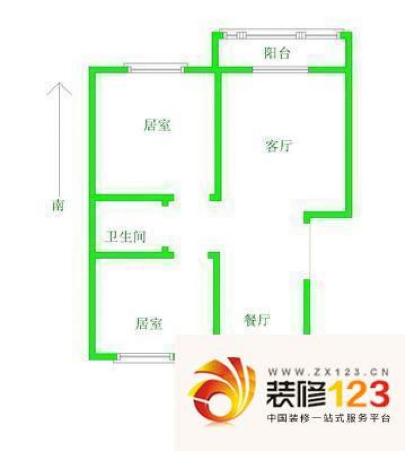统建同安家园二期 2室 户型图 .