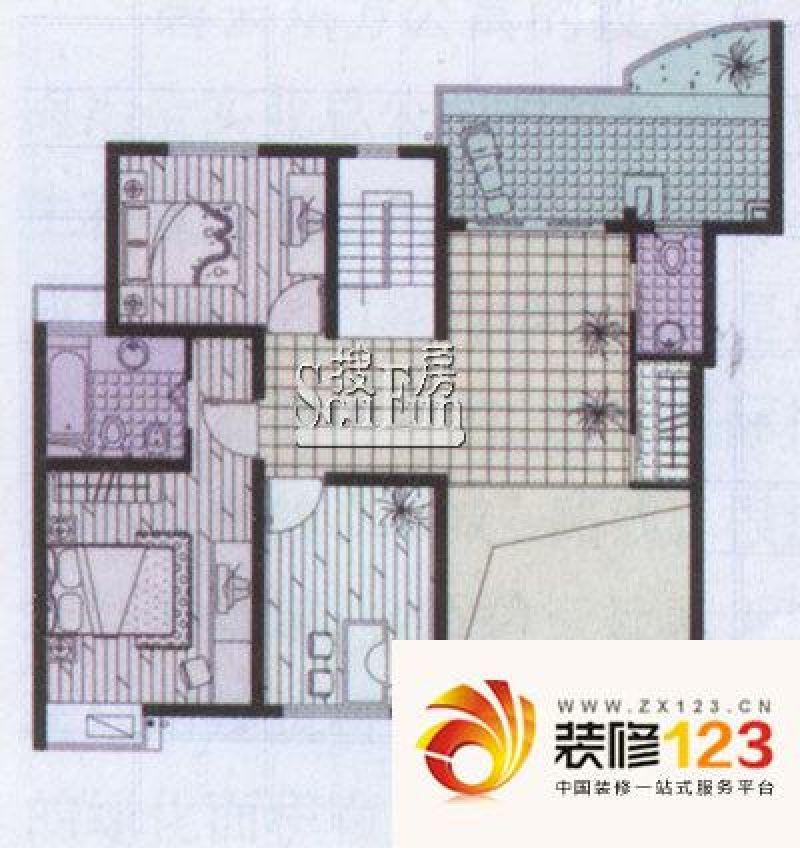 上海日月豪庭别墅日月豪庭别墅户型图小高层b户型 .
