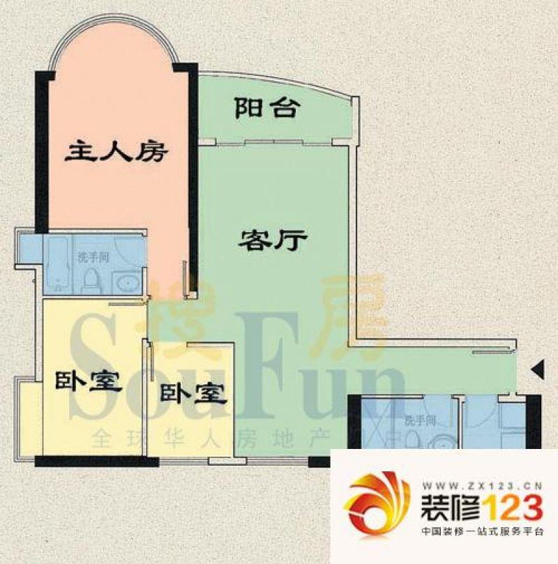 逸景翠园户型图倚翠轩b座20f 3室 .