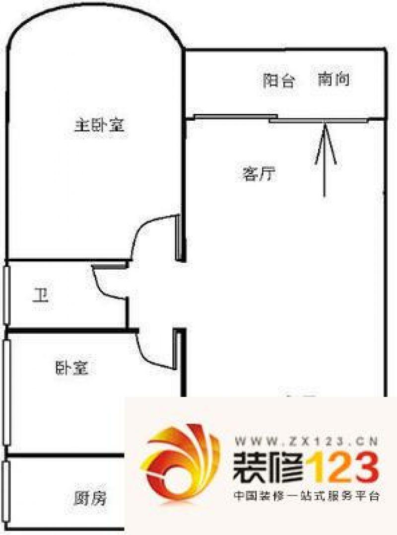 逸景翠园倚翠轩 2室 户型图 .