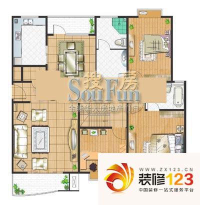 清水颐园别墅户型图b1户型 2室2 .