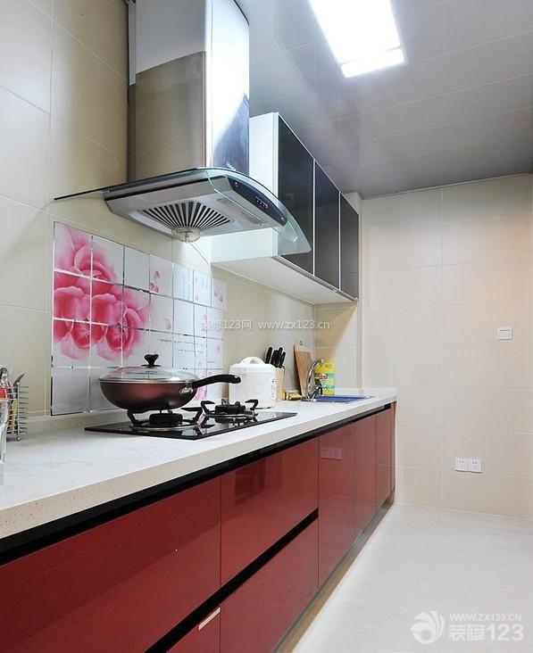 现代风格厨房墙面瓷砖拼花贴图展示