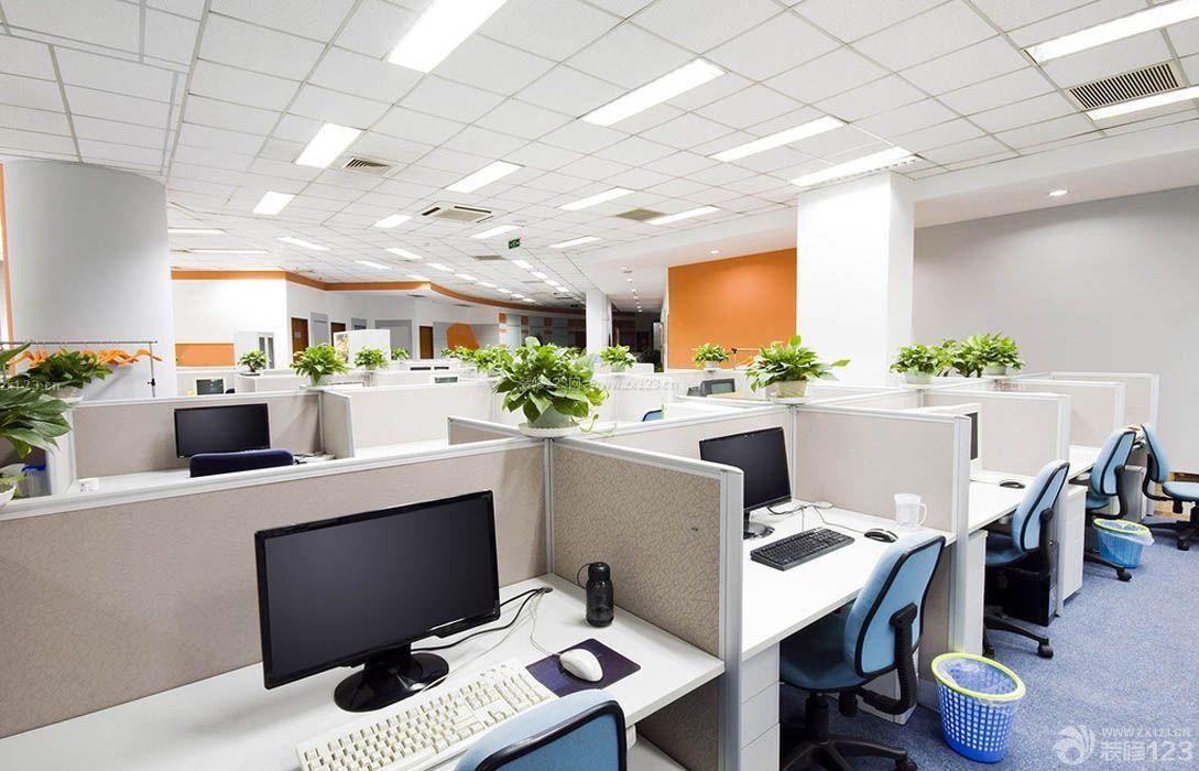 办公室办公桌摆放装修设计效果图