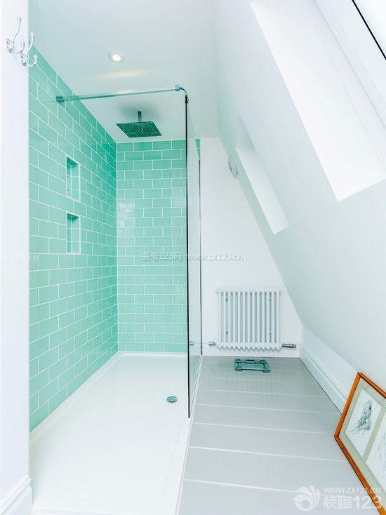 小户型斜顶阁楼淋浴房喷头效果图欣赏