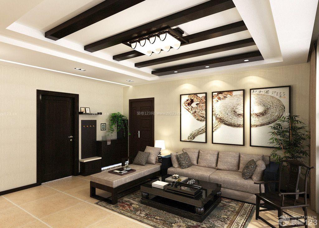 现代简约家装客厅壁纸图片欣赏
