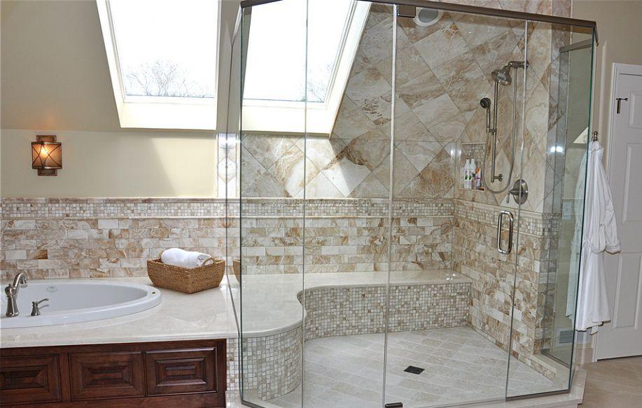 仿古卫生间室内瓷砖装修设计图片
