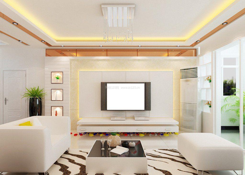 客厅背景墙创意设计效果图现代风格图片