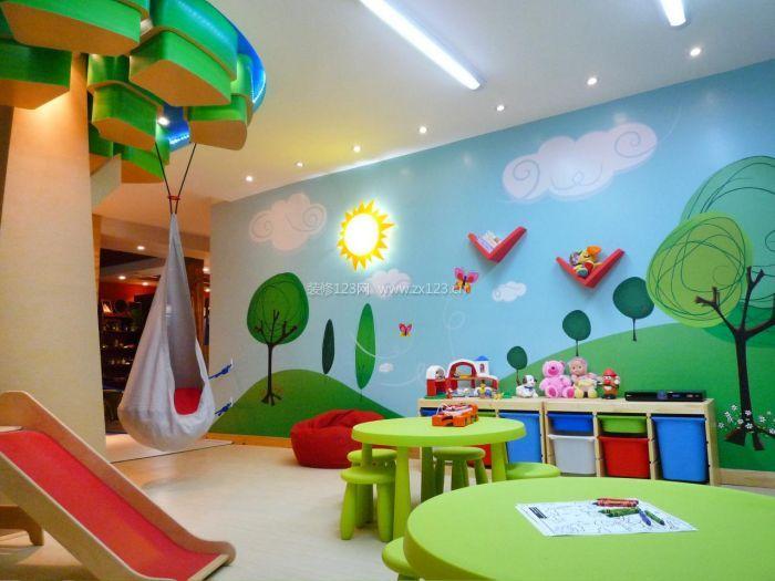 幼儿园主题墙面彩绘图片欣赏