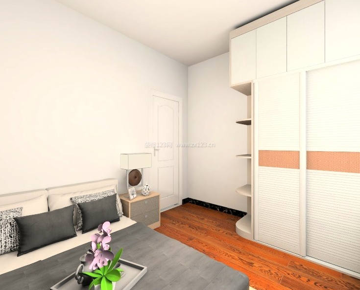 现代风格主卧室整体衣柜设计效果图一览