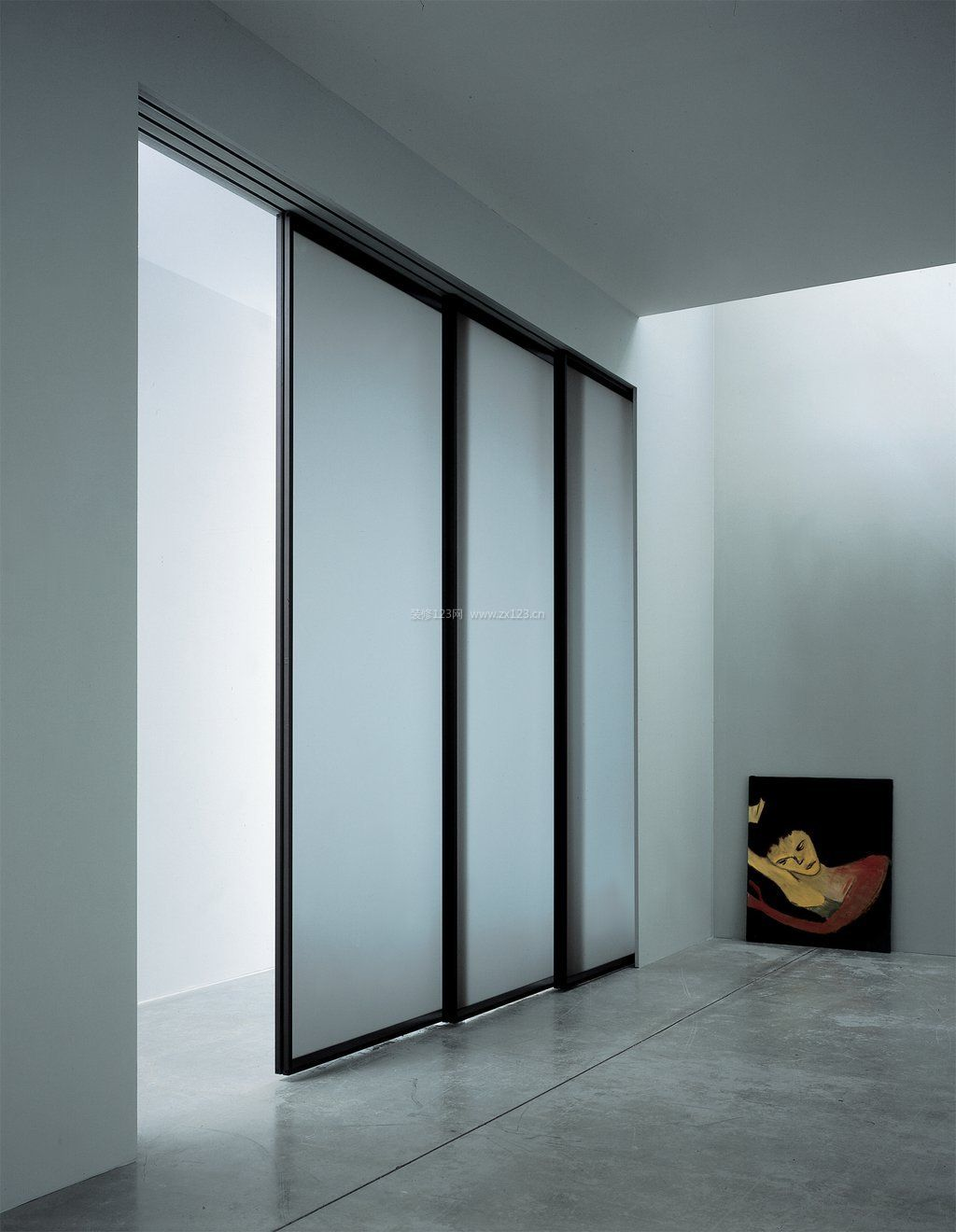 室内装饰磨砂玻璃推拉门图片欣赏