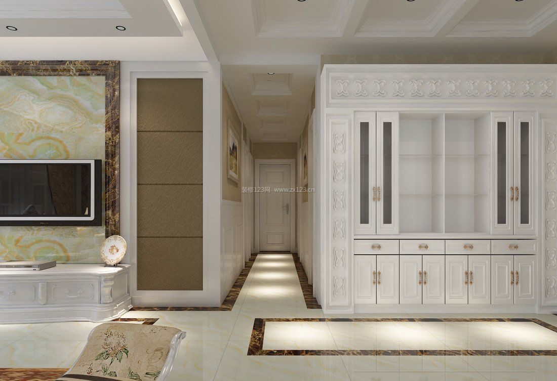 现代家装室内过道走廊吊顶效果图欣赏