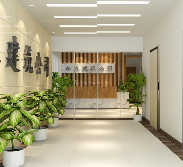 2020建筑公司办公室门头设计效果图片