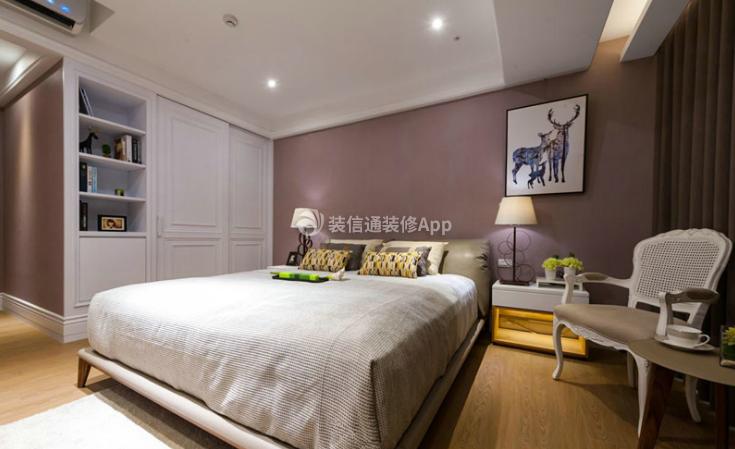 117㎡现代风格卧室装修效果图欣赏