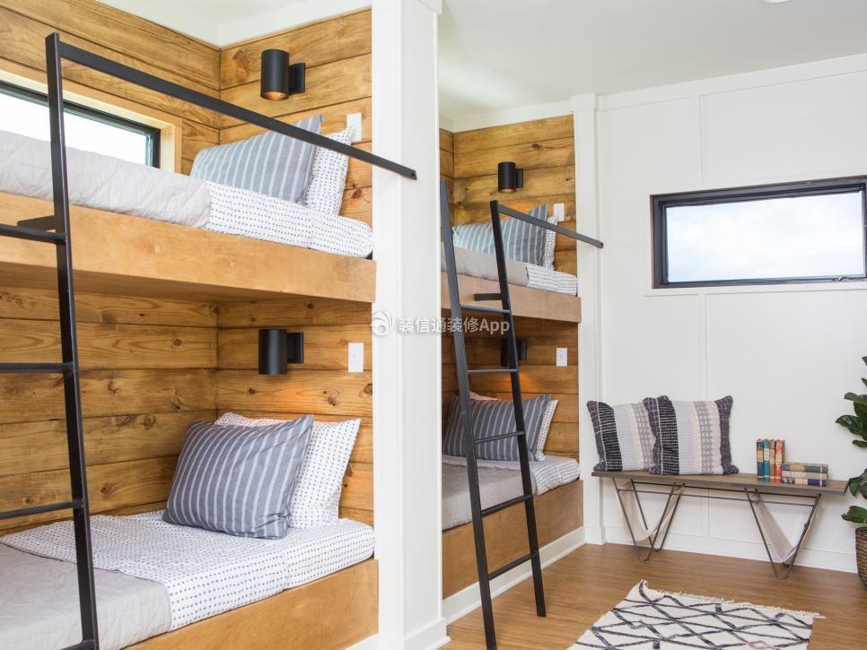 北欧风格温馨儿童房间楼梯床装修效果图欣赏