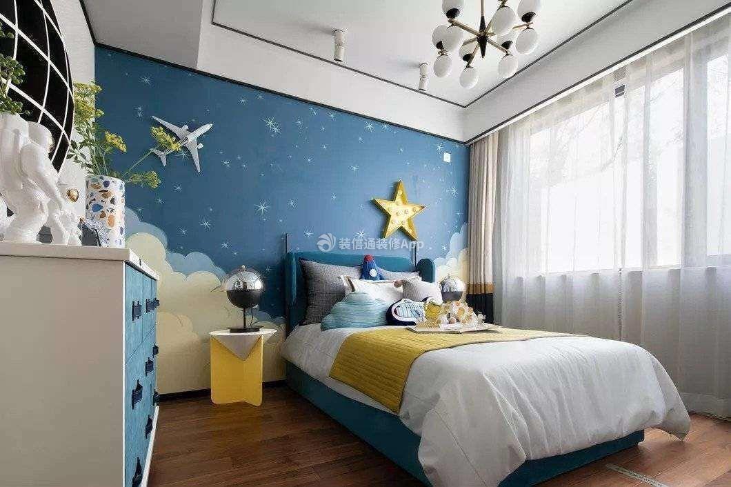 120平米三居室中式风格室内卧室图片一览