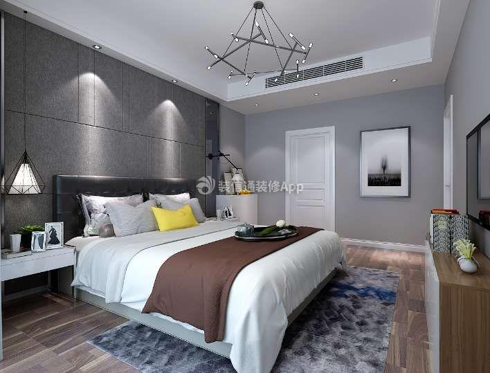 三居现代123平米卧室吊灯装修设计欣赏