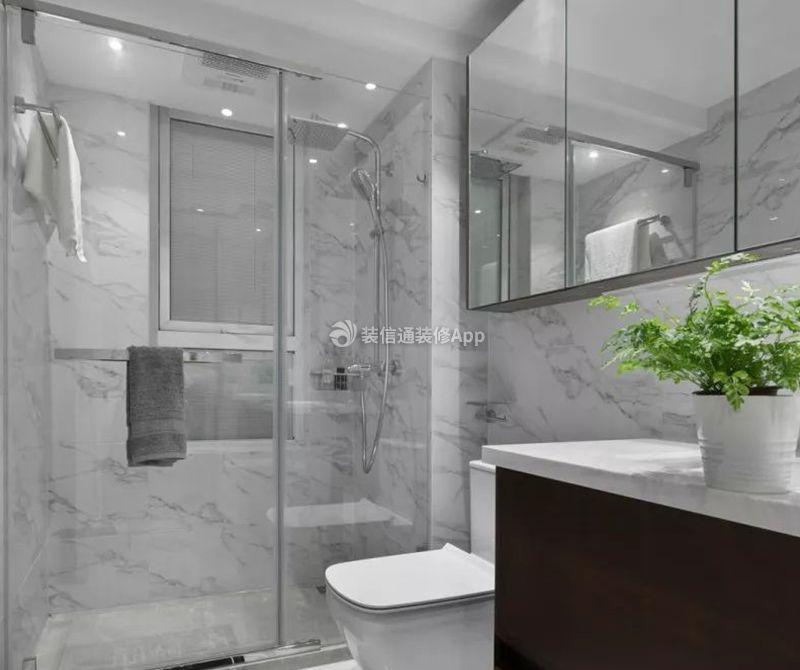 三居100平北欧风格卫生间淋浴间设计图欣赏