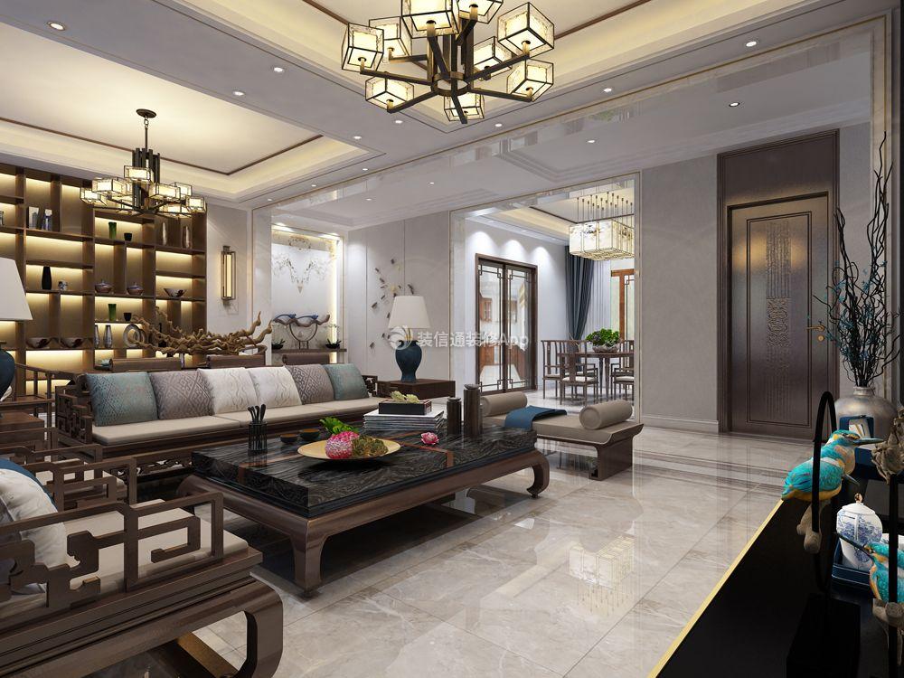 388平米四居室新中式风格客厅装修效果图