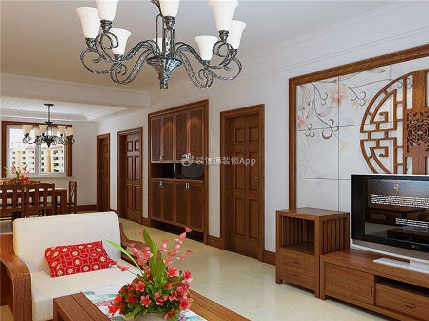 新中式风格三居140平客厅家装装饰效果图