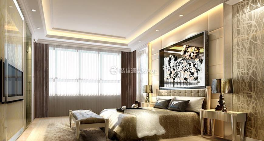 别墅800平欧式风格卧室床尾凳设计 请欣赏