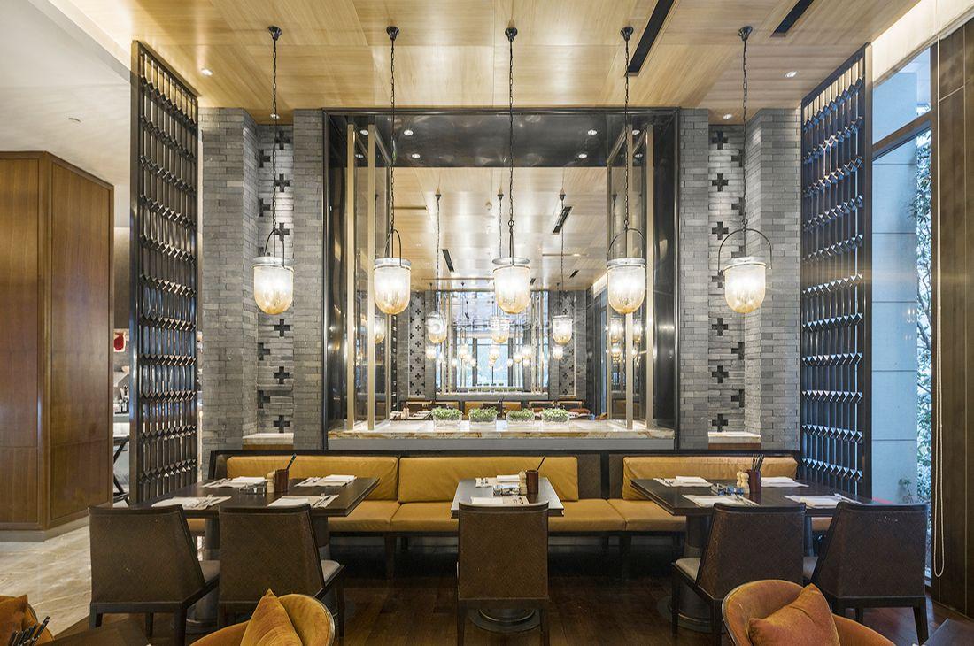 2020北京酒店餐厅吊灯设计装修成品图